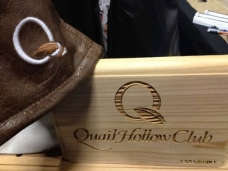 Quail Hollow custom Display box with leather shown being our StageCoach from Grand Collection.