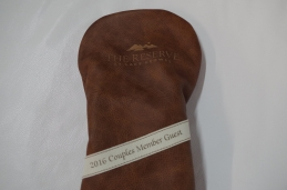 Custom headcover with our new whiskey leather and subtle logo application for a classic look!