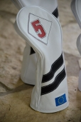 Custoim Design with pure white body and stealth black stripes.
